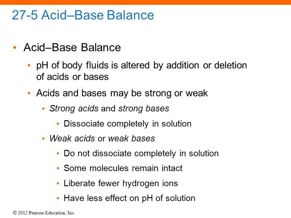 27-5 Acid–Base Balance Acid–Base Balance