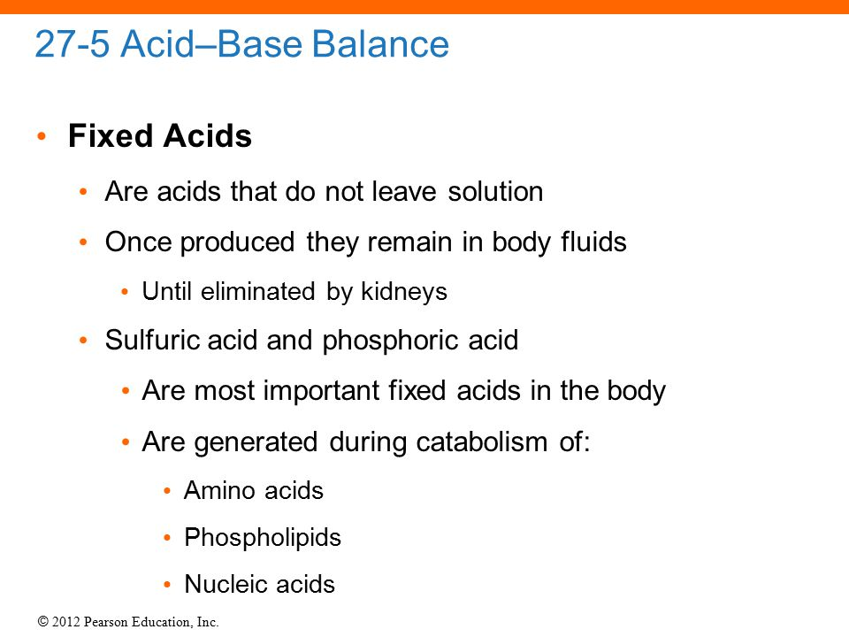 27-5 Acid–Base Balance Fixed Acids
