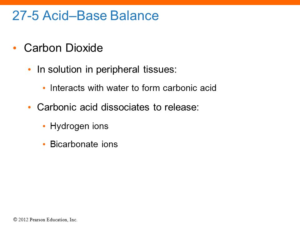 27-5 Acid–Base Balance Carbon Dioxide