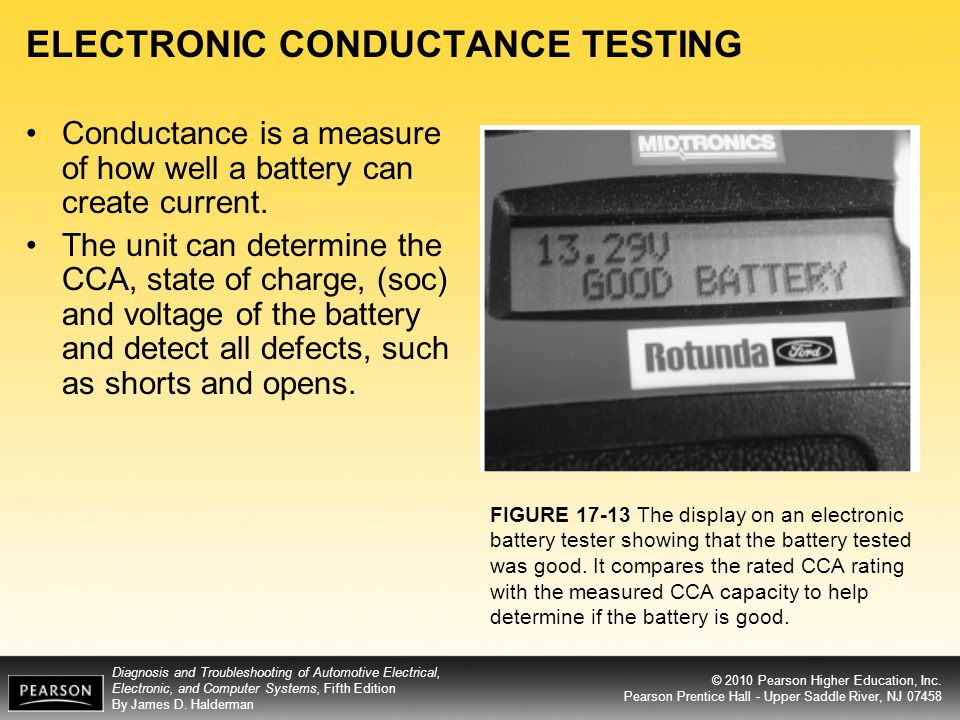 ELECTRONIC CONDUCTANCE TESTING