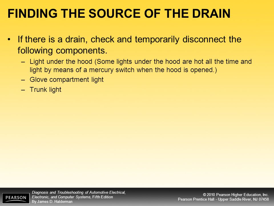 FINDING THE SOURCE OF THE DRAIN