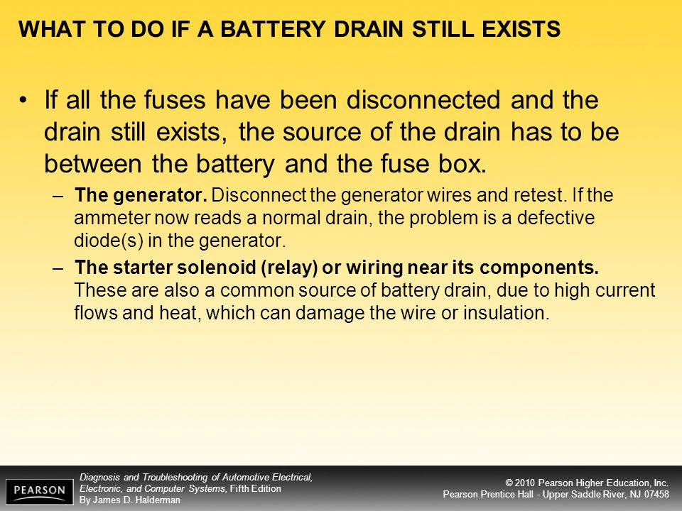 WHAT TO DO IF A BATTERY DRAIN STILL EXISTS