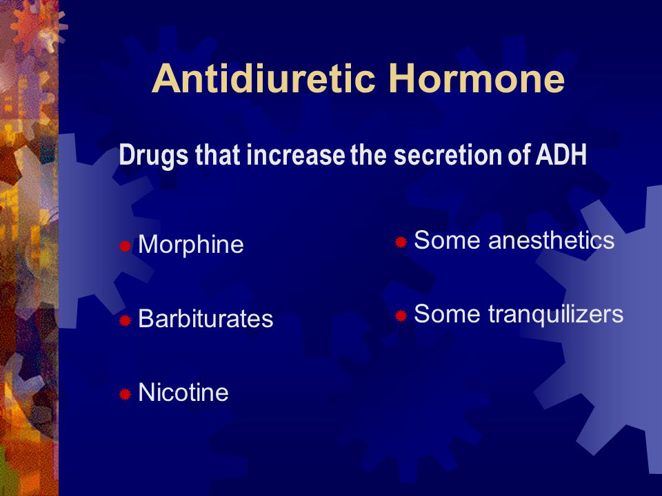 Drugs that increase the secretion of ADH