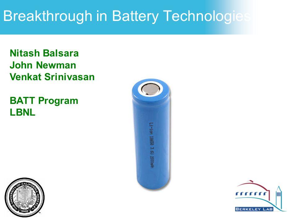 Breakthrough in Battery Technologies