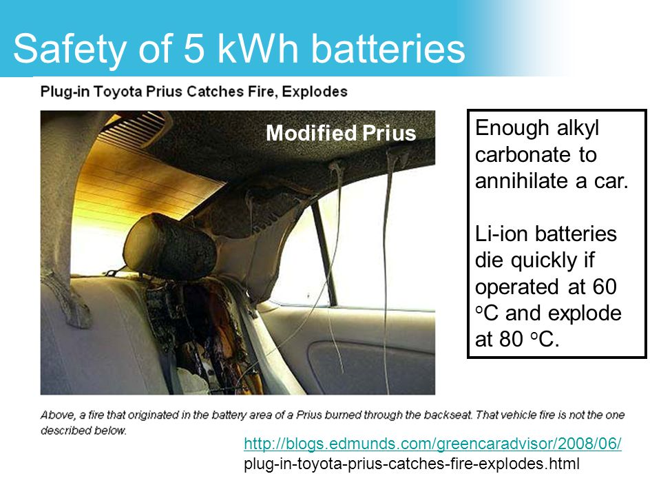 Safety of 5 kWh batteries