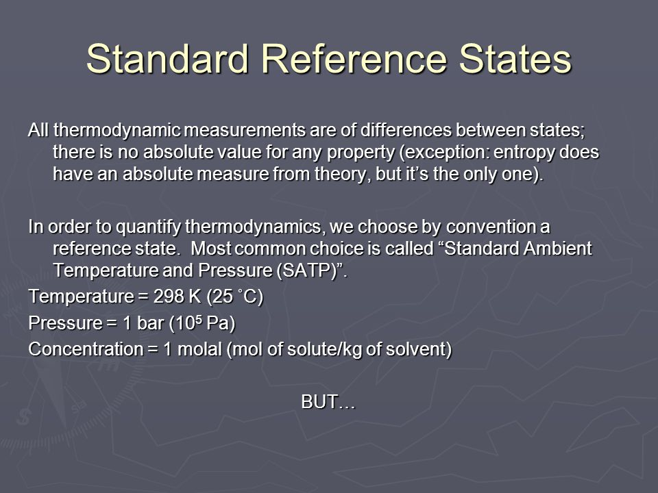 Standard Reference States