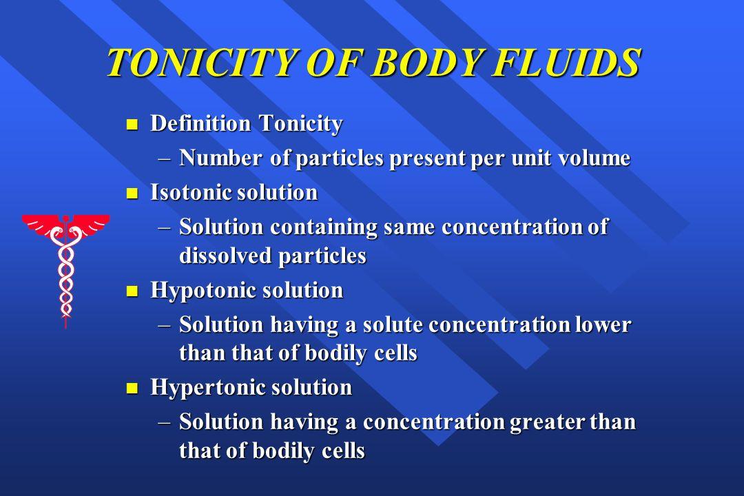 TONICITY OF BODY FLUIDS