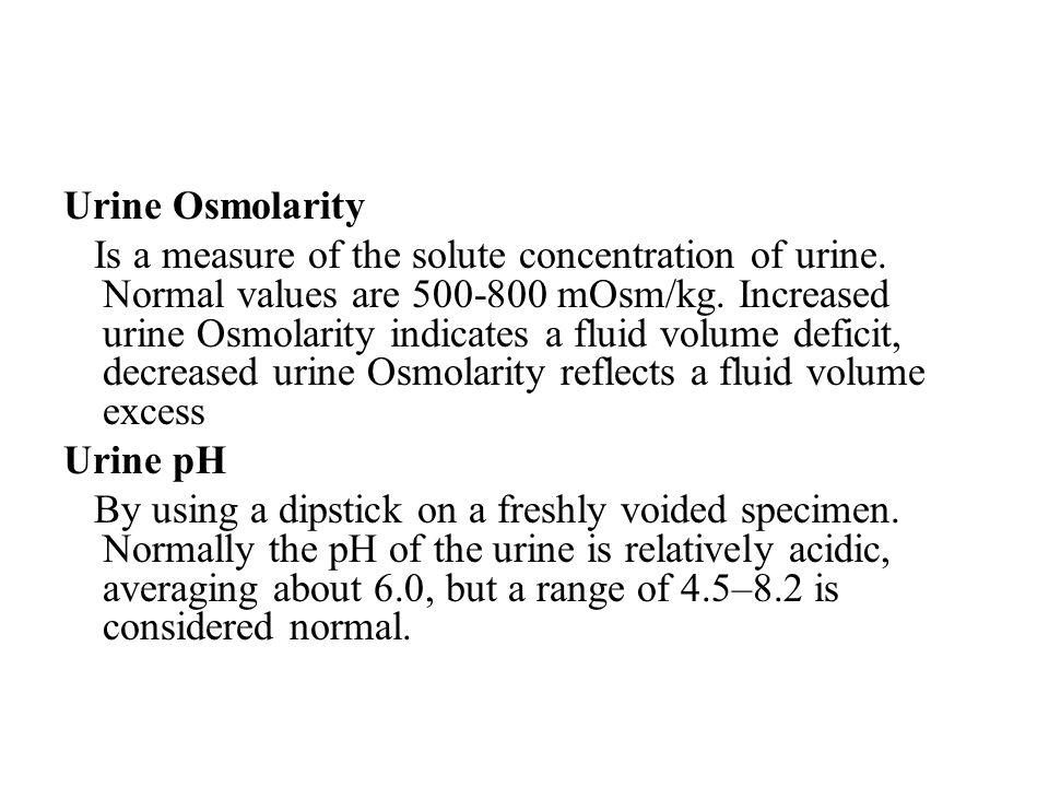 Urine Osmolarity