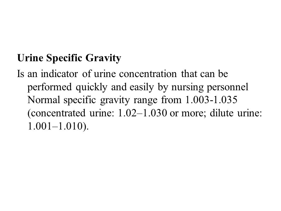 Urine Specific Gravity