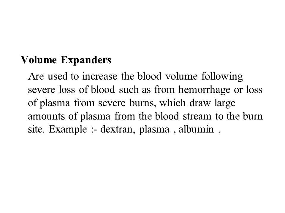 Volume Expanders