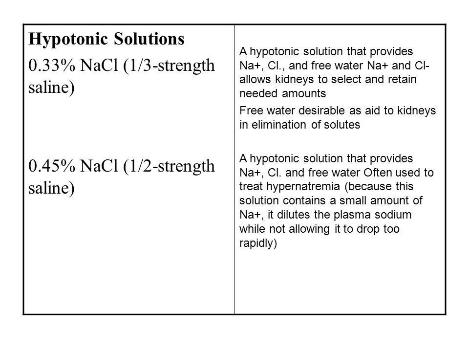 0.33% NaCl (1/3-strength saline)