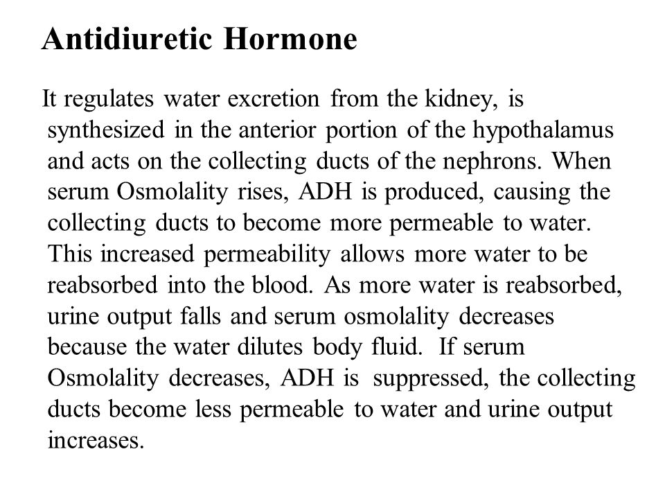 Antidiuretic Hormone