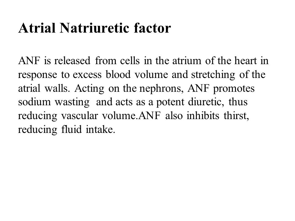 Atrial Natriuretic factor