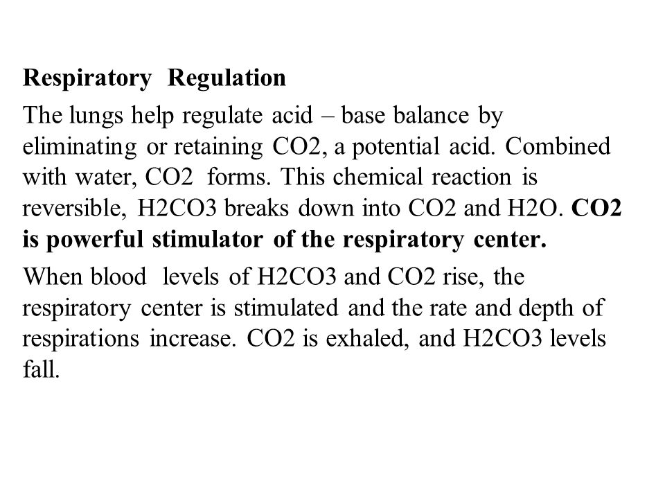 Respiratory Regulation