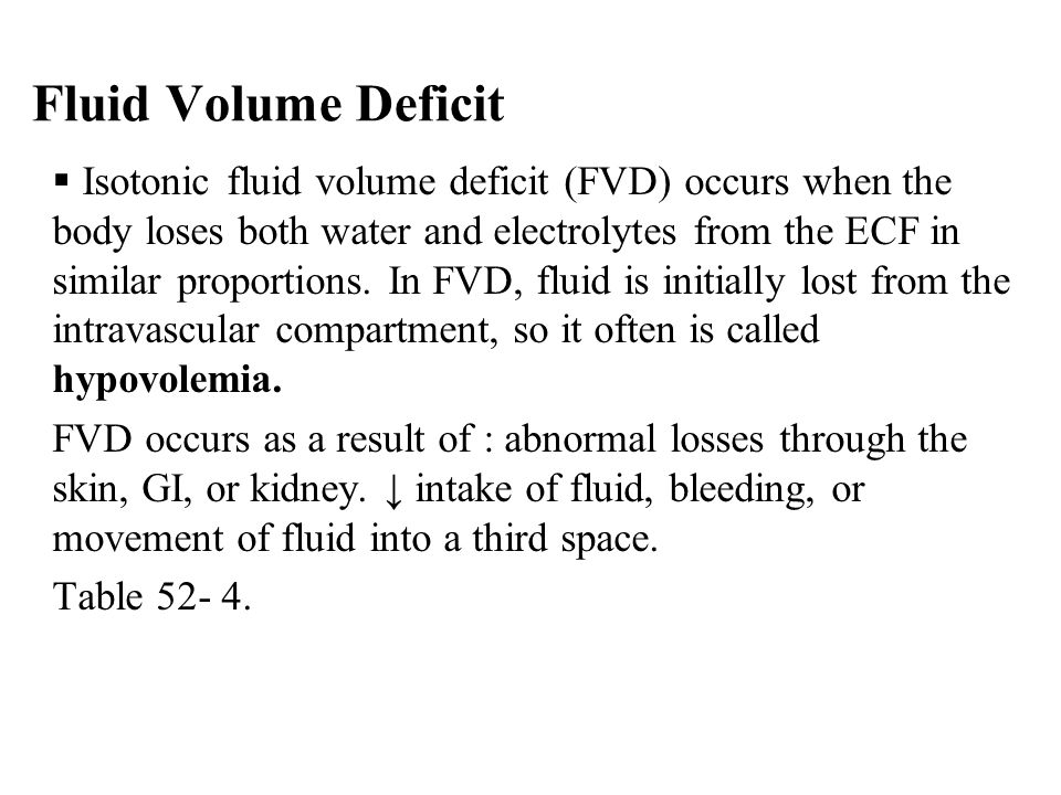 Fluid Volume Deficit
