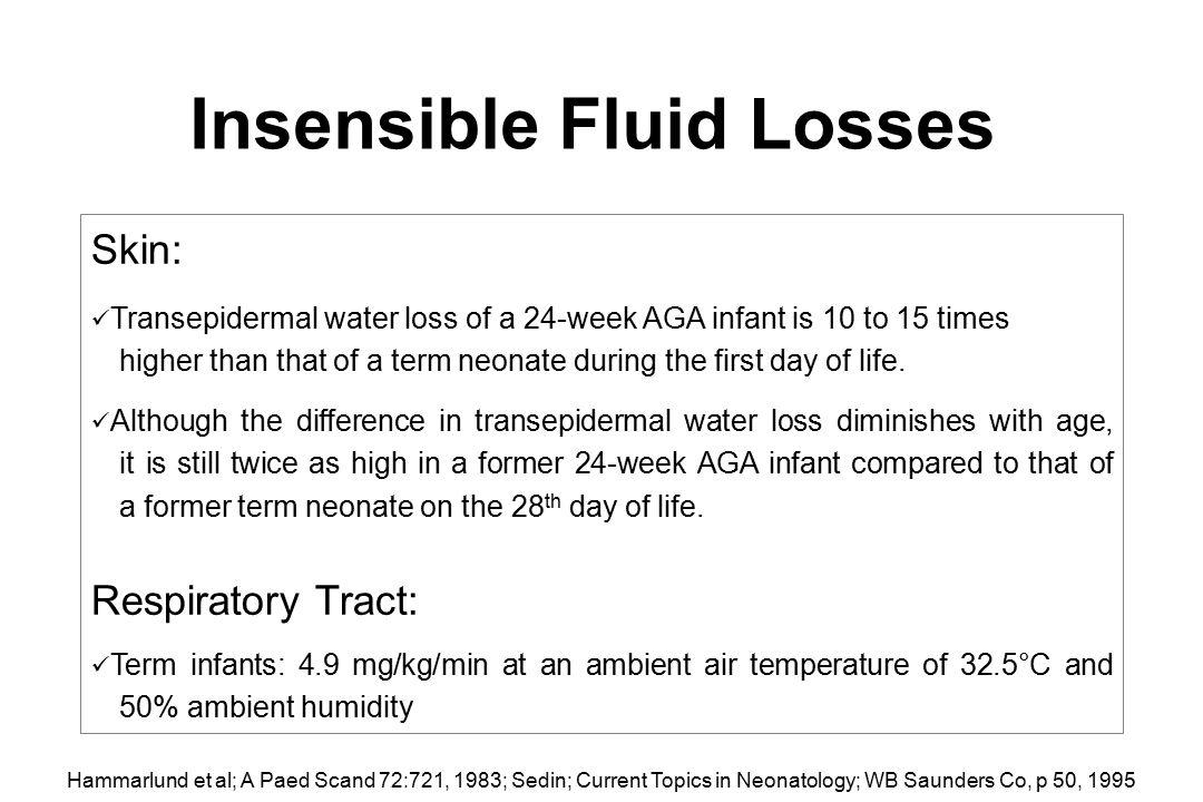 Insensible Fluid Losses