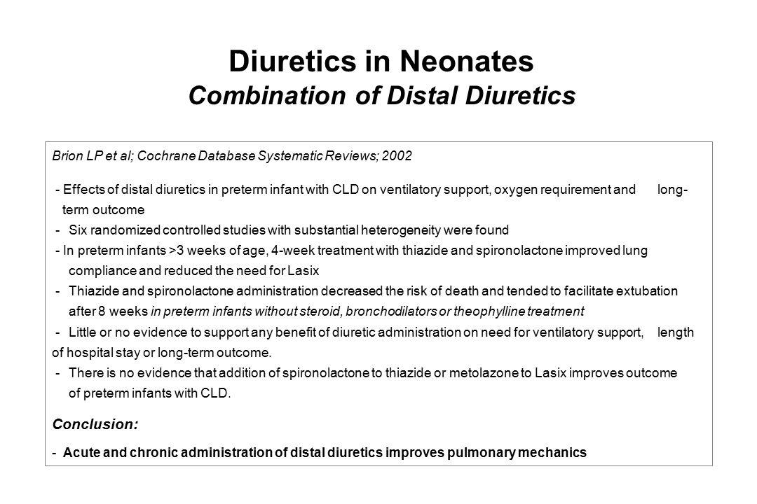 Combination of Distal Diuretics