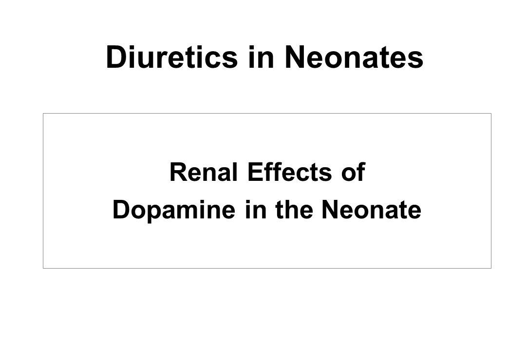 Dopamine in the Neonate