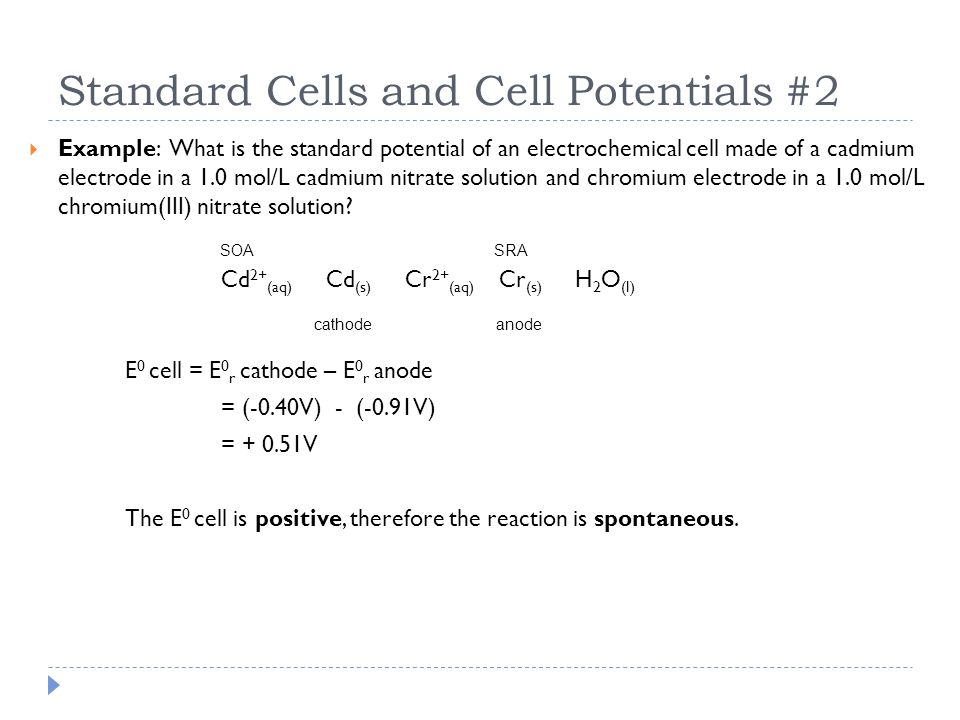 Standard Cells and Cell Potentials #2