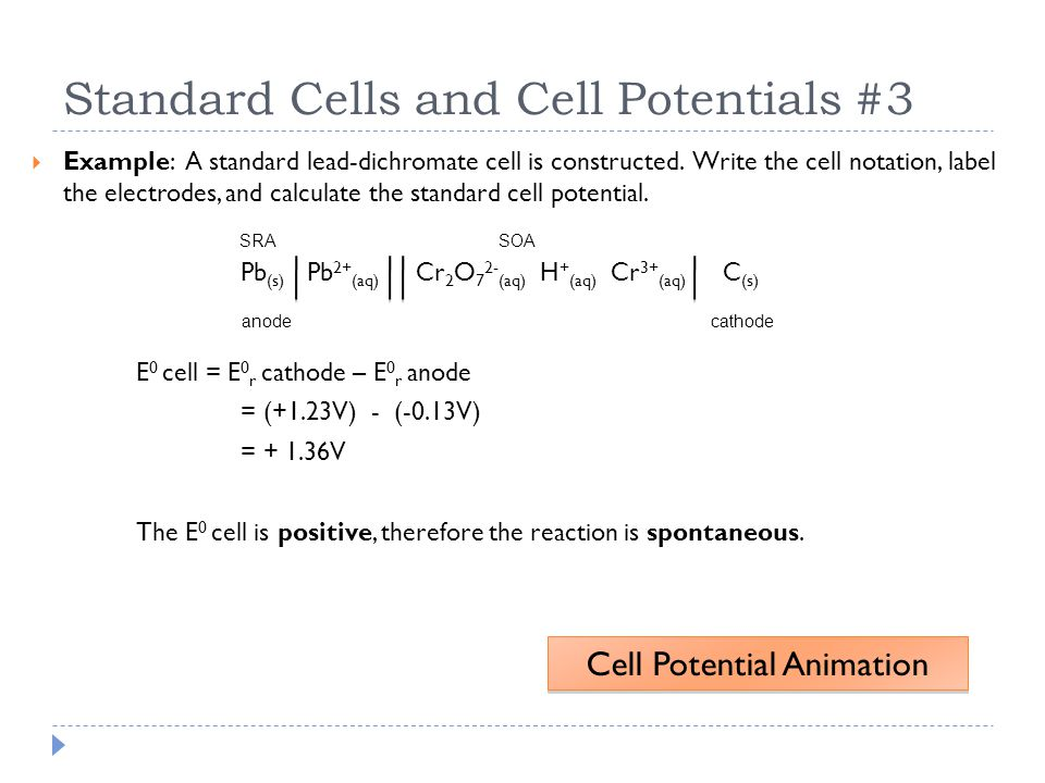 Standard Cells and Cell Potentials #3