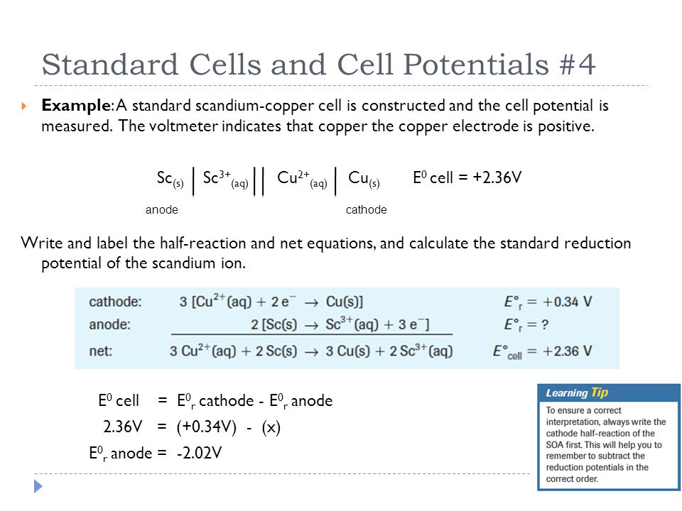 Standard Cells and Cell Potentials #4