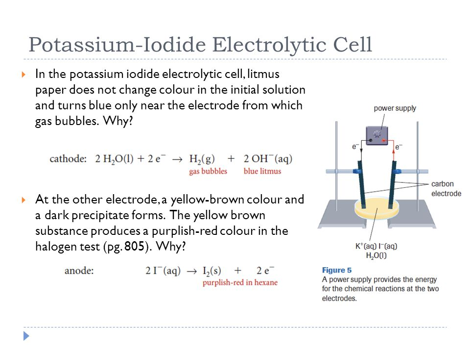 Potassium-Iodide Electrolytic Cell