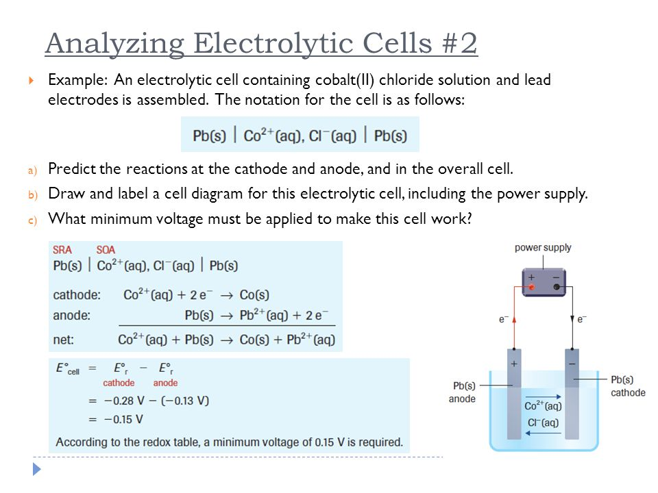 Analyzing Electrolytic Cells #2
