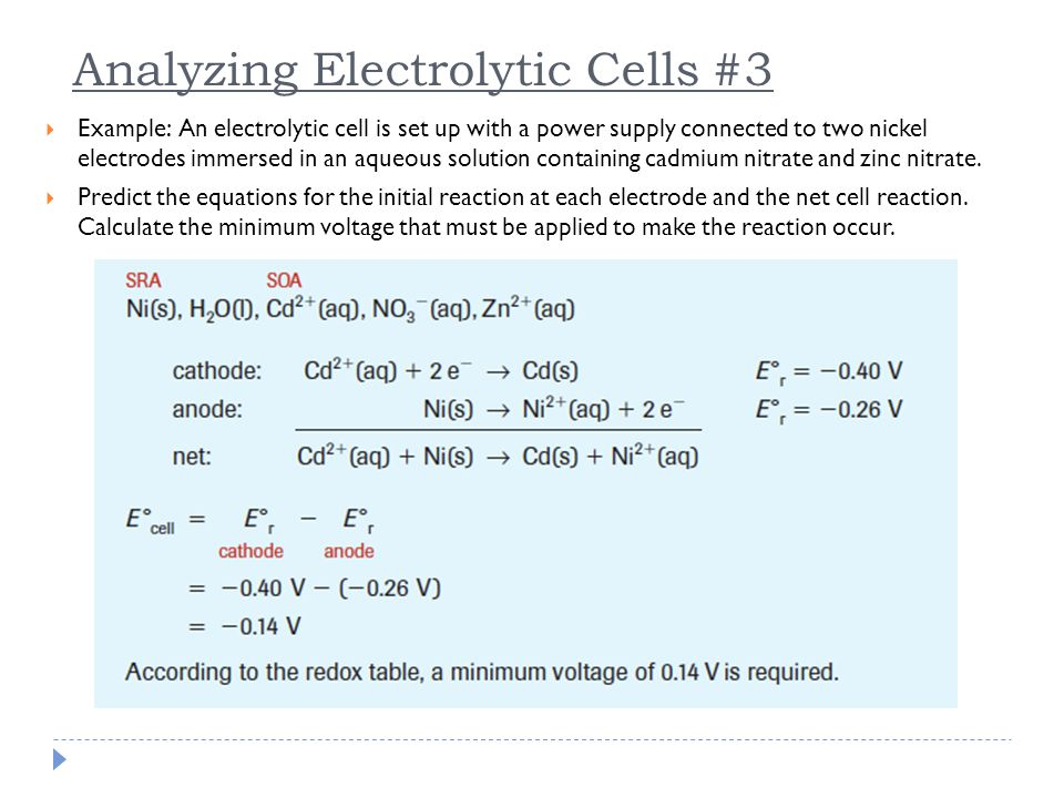 Analyzing Electrolytic Cells #3