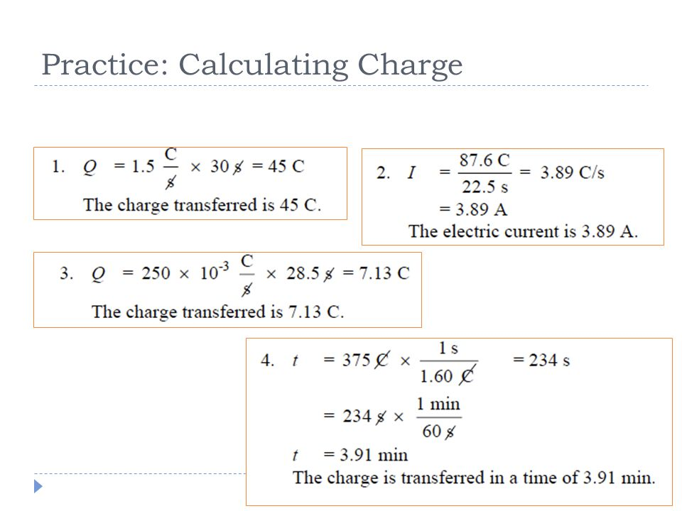 Practice: Calculating Charge