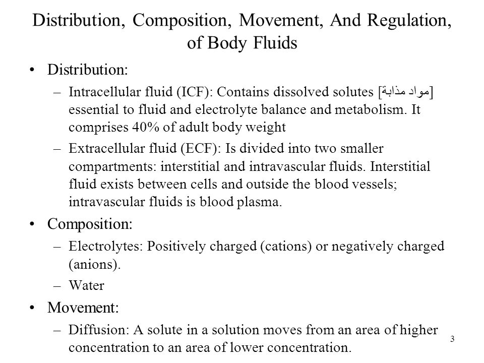 Distribution, Composition, Movement, And Regulation, of Body Fluids