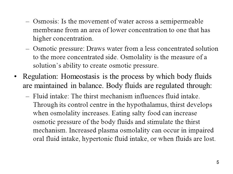 Osmosis: Is the movement of water across a semipermeable membrane from an area of lower concentration to one that has higher concentration.