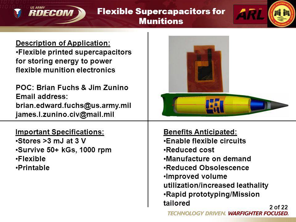 Flexible Supercapacitors for Munitions