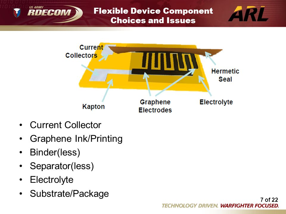 Flexible Device Component Choices and Issues