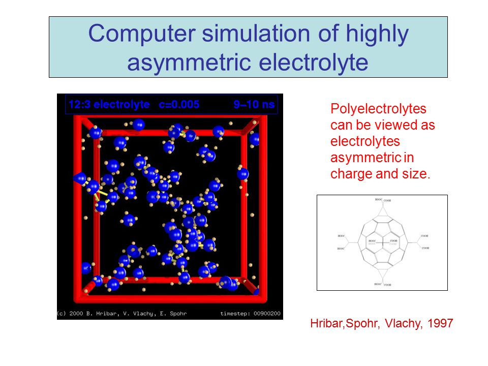 Computer simulation of highly asymmetric electrolyte