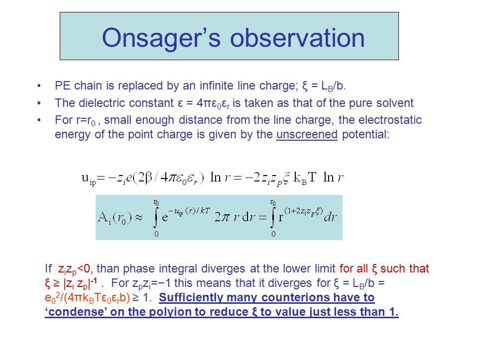 Onsager's observation