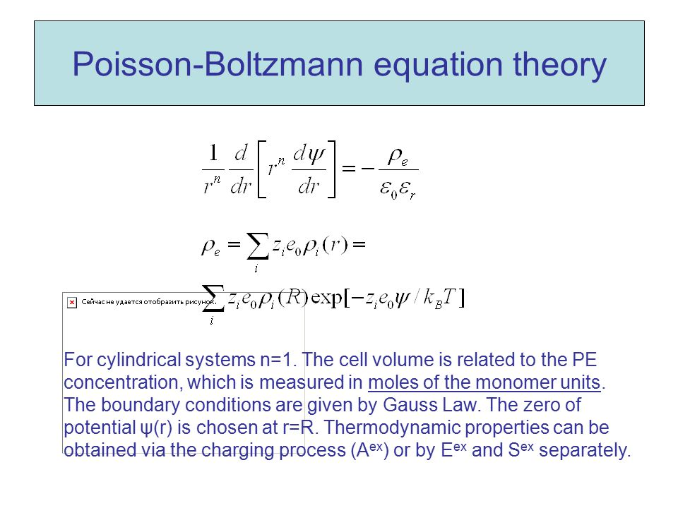 Poisson-Boltzmann equation theory