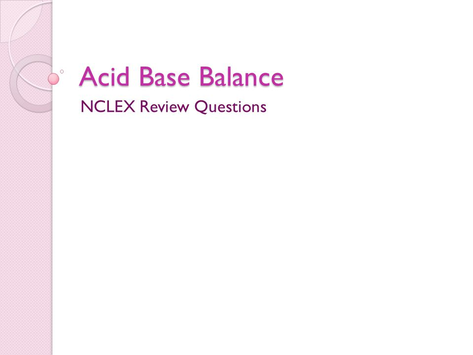 NCLEX Review Questions