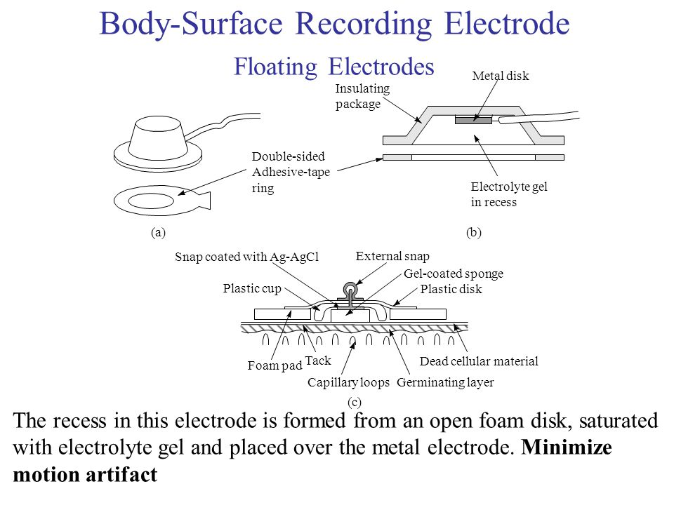Body-Surface Recording Electrode Floating Electrodes