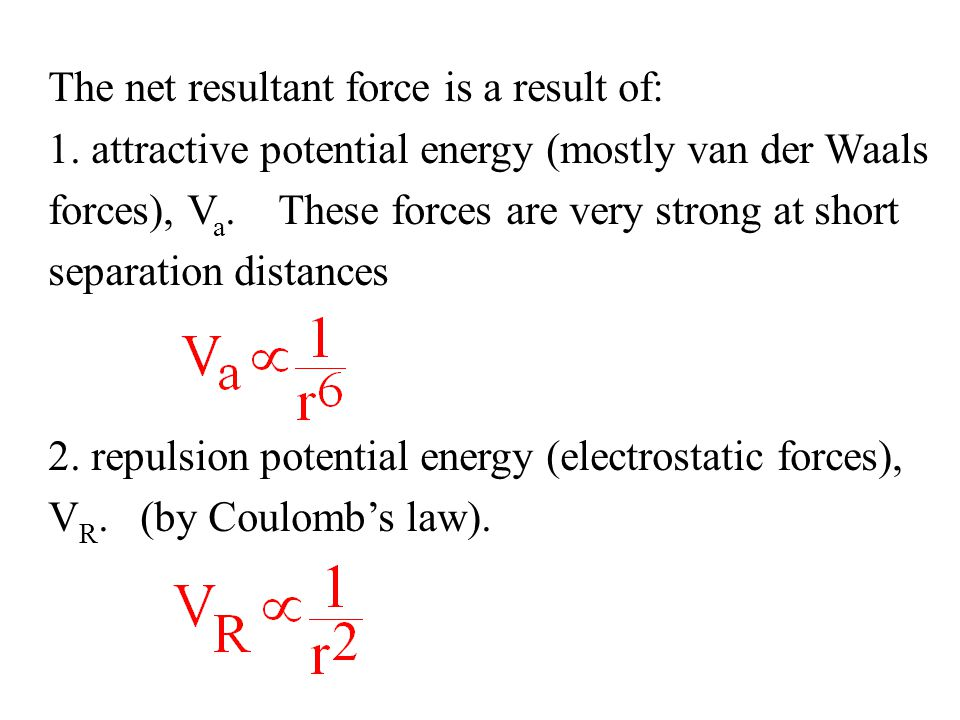 The net resultant force is a result of: 1