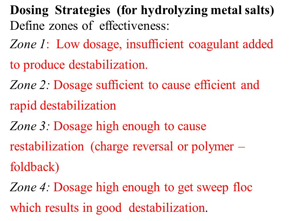 Dosing Strategies (for hydrolyzing metal salts)