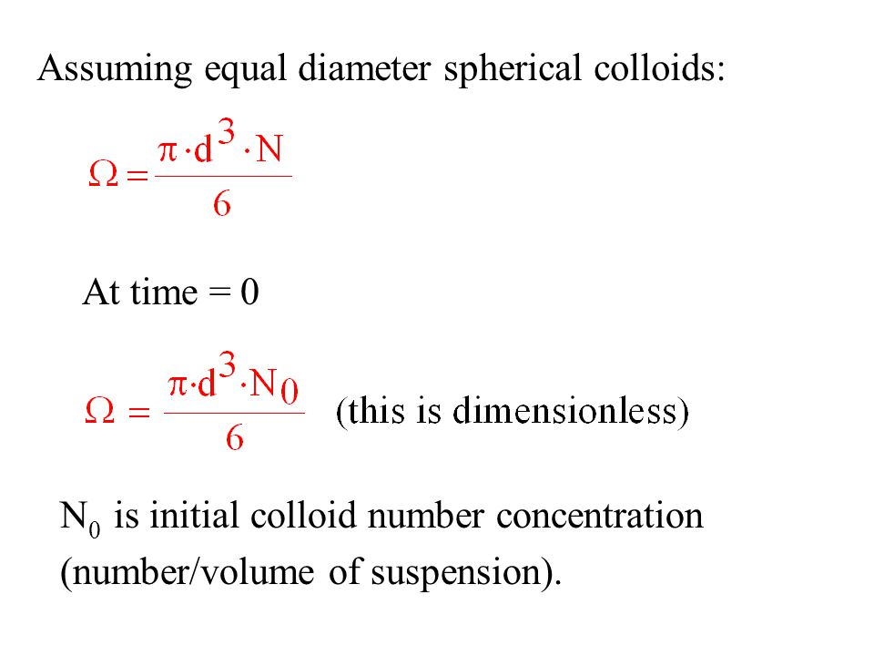 Assuming equal diameter spherical colloids: