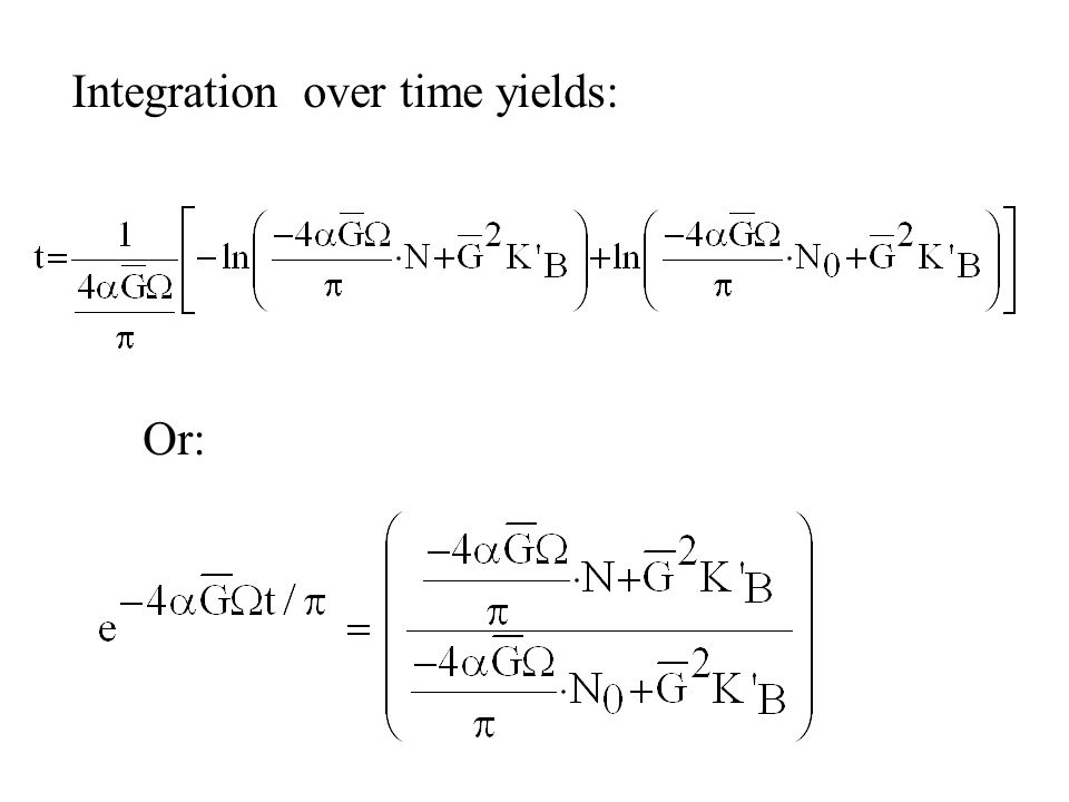 Integration over time yields: