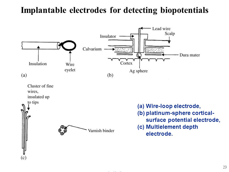 Implantable electrodes for detecting biopotentials