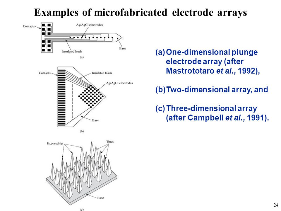 Examples of microfabricated electrode arrays