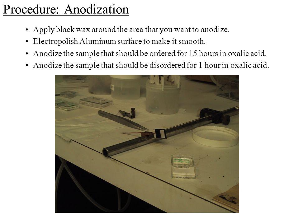 Procedure: Anodization