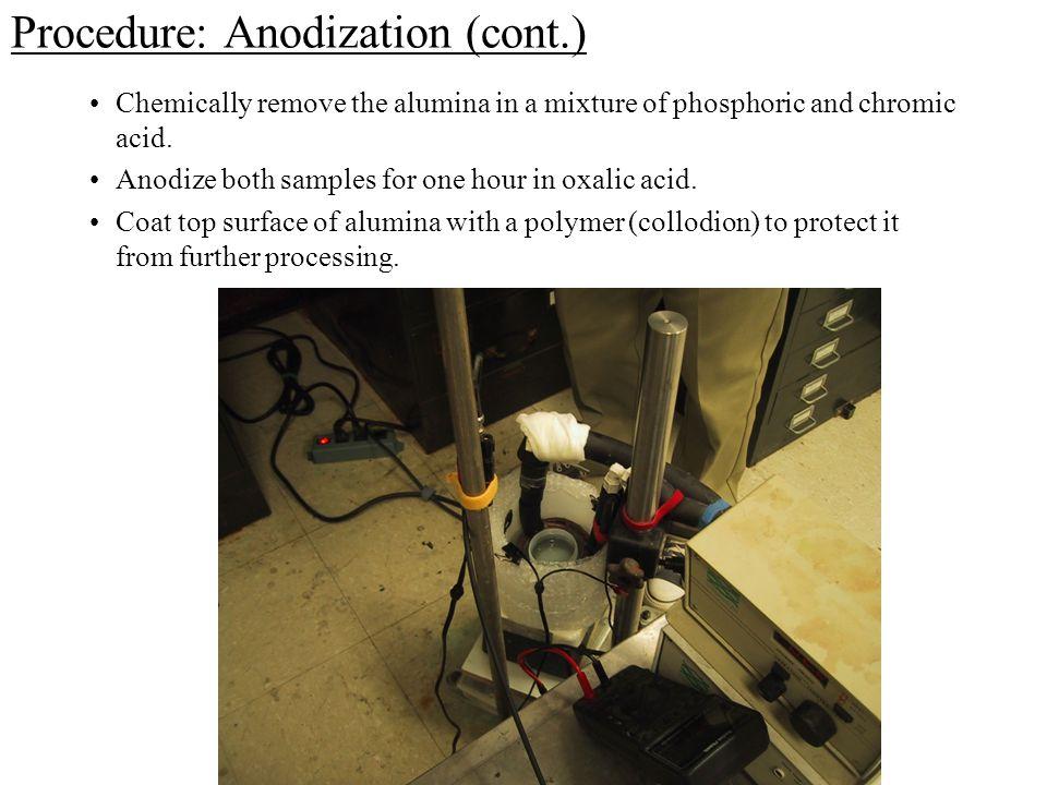 Procedure: Anodization (cont.)
