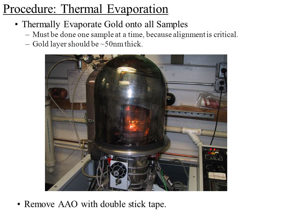 Procedure: Thermal Evaporation