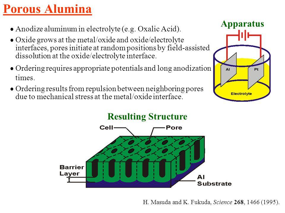 Porous Alumina Apparatus Resulting Structure