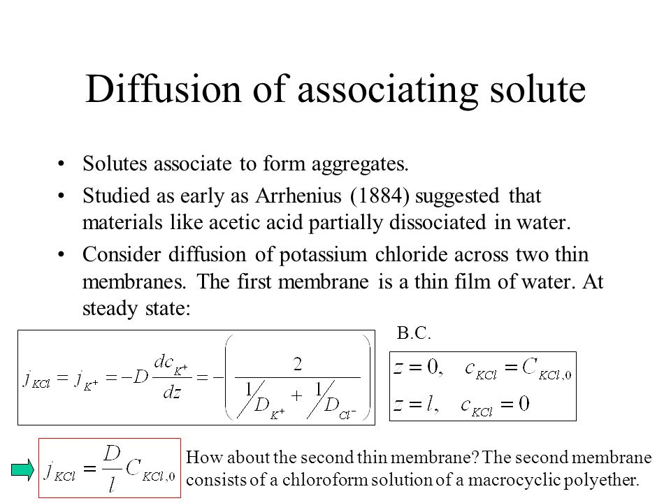 Diffusion of associating solute