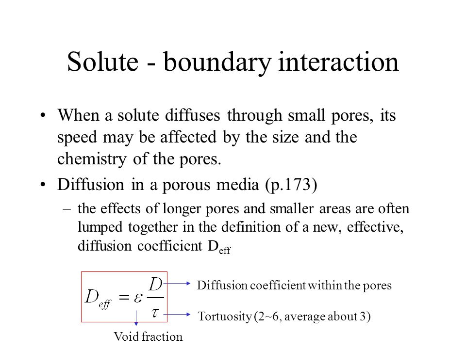 Solute - boundary interaction